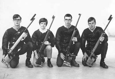 1968 National Junior Rifle Team Champions - Acorns Junior Rifle Club<br>L to R:  Ray Carter, Diana Timberlake, Gary Lund, Robert Strong