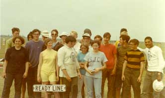 Acorns JRC members at Camp Perry in 1969.