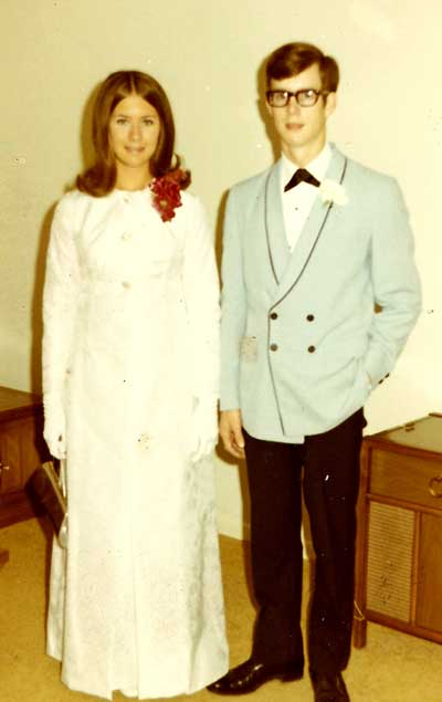 Ray picking up Pam Ryan for the 1969 FHHS Senior Prom.