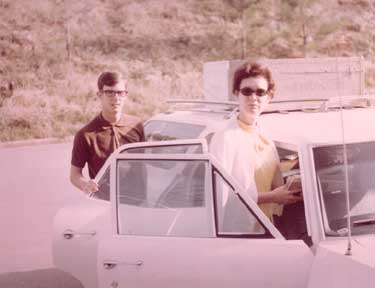 On the way to Tennessee Tech, Sept 1969